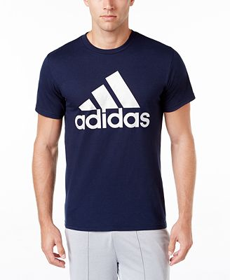 adidas Men's Badge of Sport Classic Logo T-Shirt - T-Shirts - Men ...