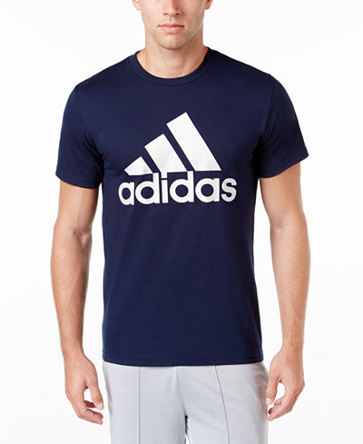 adidas men 39 s badge of sport classic logo t shirt t shirts men. Black Bedroom Furniture Sets. Home Design Ideas