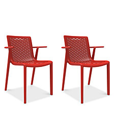 Netkat Set of 2 Indoor/Outdoor Armchairs, Quick Ship
