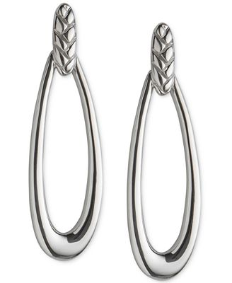 Nambé Braid Loop Earrings in Sterling Silver, Only at Macy's