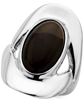 Nambé Smoky Quartz (7-1/2 ct. t.w.) Oval Ring in Sterling Silver, Only at Macy's