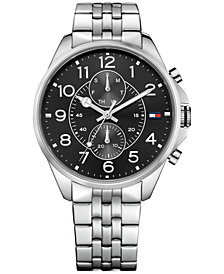 Tommy Hilfiger Men's Chronograph Casual Sport Stainless Bracelet Watch 46mm 1791276