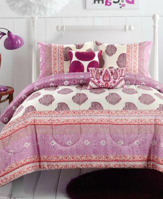 CLOSEOUT! Skylar Pom Pom 4-Pc. Twin/Twin XL Comforter Set