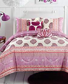 CLOSEOUT! Skylar Pom Pom 4-Pc. Twin/Twin XL Comforter Set
