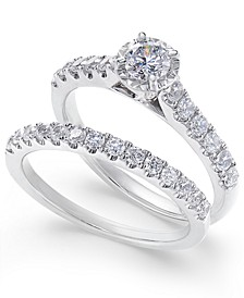 Diamond Round Bridal Set (1 ct. t.w.) in 14k White Gold
