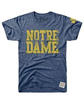 best sneakers ea364 d1c6d Retro Brand Men s Notre Dame Fighting Irish Tri-Blend Vault Logo T-Shirt