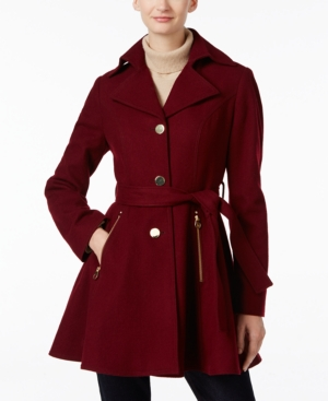 Retro Vintage Style Coats, Jackets, Fur Stoles Inc International Concepts Belted Skirted Swing Coat Only at Macys $119.99 AT vintagedancer.com