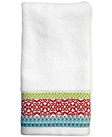 "CLOSEOUT! Dena Mistletoe Medallion 11"" x 18"" Fingertip Towel"