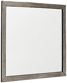 Tribeca Grey Landscape Mirror, Created for Macy's