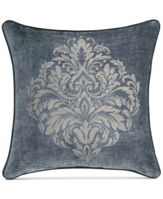 "J. Queen New York Sicily Teal 20"" Square Embroidered Decorative Pillow"