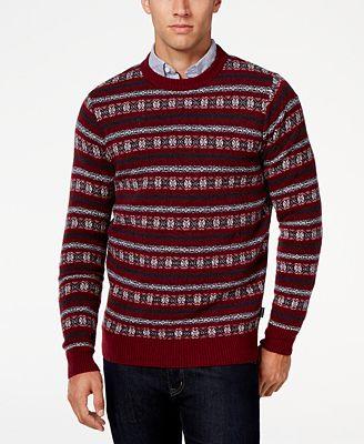 Barbour Men's Harvard Fair Isle Crew-Neck Sweater - Sweaters - Men ...