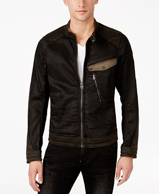 G-Star RAW Men's Revend PM 3D Slim-Fit Colorblocked Denim Jacket ...