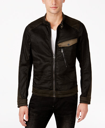 G-Star RAW Men's Revend PM 3D Slim-Fit Colorblocked Denim Jacket ...