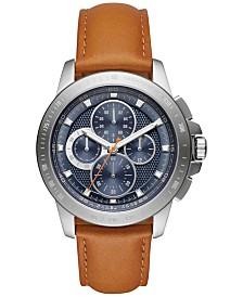 michael kors mens watches macy s michael kors men s chronograph ryker luggage leather strap watch 43mm mk8518