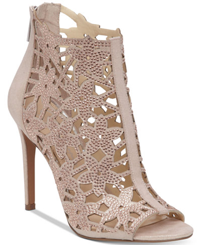 Jessica Simpson Gessina Embellished Peep-Toe Evening Sandals