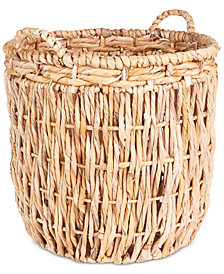 Household Essentials Tall Round Floor Basket with Handles