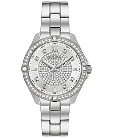 Bulova Women's Stainless Steel Bracelet Watch 35mm 96L236, Created for Macy's