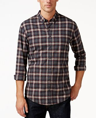 Hugo Boss Men's Edipoe Plaid Button-Down Flannel Shirt - Casual ...