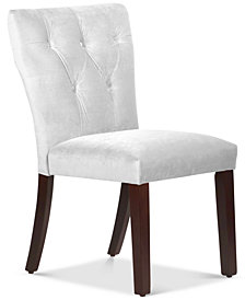 Jolinda Tufted Hourglass Dining Chair, Quick Ship
