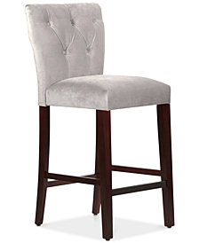 Jolinda Tufted Hourglass Bar Stool, Quick Ship