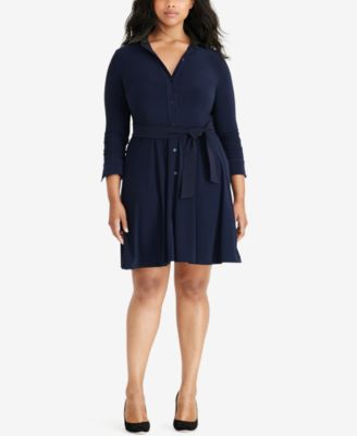 Lauren Ralph Lauren Plus Size Jersey Shirtdress