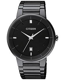 Men's Quartz Black Ion-Plated Stainless Steel Bracelet Watch 40mm BI5017-50E