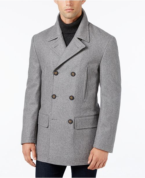 Lauren Ralph Lauren Luke Wool-Blend Classic-Fit Peacoat