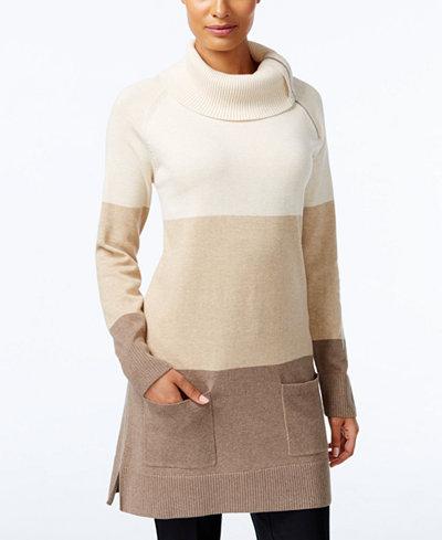 Jeanne Pierre Colorblocked Tunic Sweater