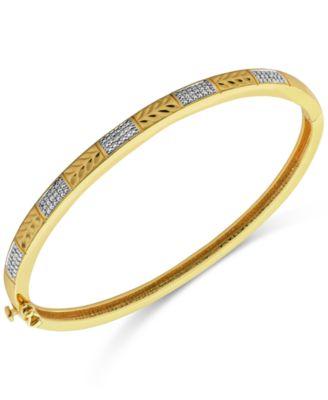 7 3//4 ct Multi-Gem /& Diamond Bracelet Sterling Silver-Plated Brass /& Gold Flash
