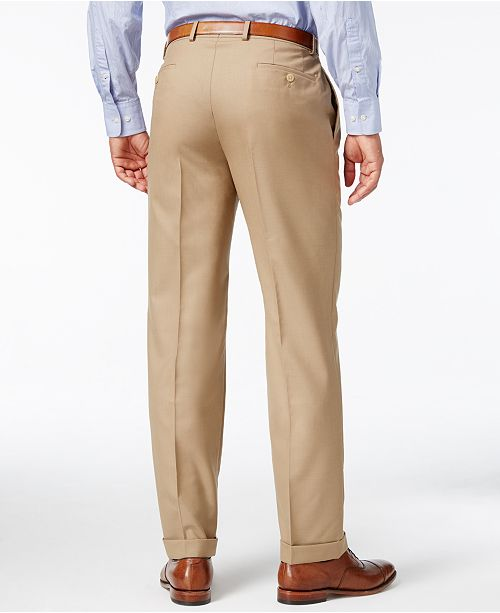 4e70d0b0d9b ... Lauren Ralph Lauren 100% Wool Double-Reverse Pleated Dress Pants ...
