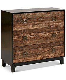 Harben Chattered Wood Accent Chest, Quick Ship