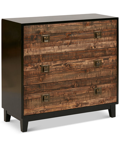 Jodi Chattered Wood Accent Chest, Quick Ship