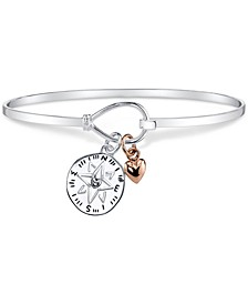 Compass Charm Bracelet in Sterling Silver