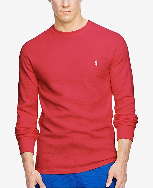 Solid Knit Tall Crew Ralph Lauren Polo Men's Neck Waffle Bigamp; WIY2HED9