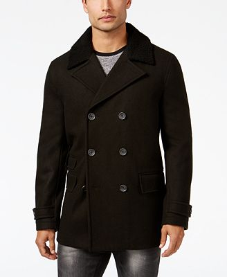 INC International Concepts Men's Double-Breasted Pea Coat, Created ...