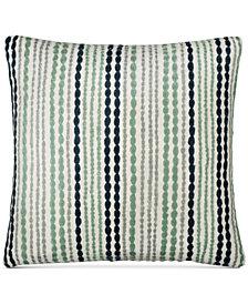 "CLOSEOUT! DKNY Loft Stripe Indigo 16"" Square Decorative Pillow"