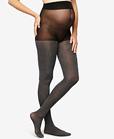 A Pea In The Pod Maternity Ribbed Pantyhose