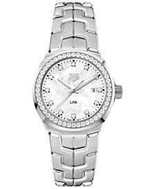 Women's Swiss LINK Diamond (3/4 ct. t.w.) Stainless Steel Bracelet Watch 32mm WBC1316.BA0600