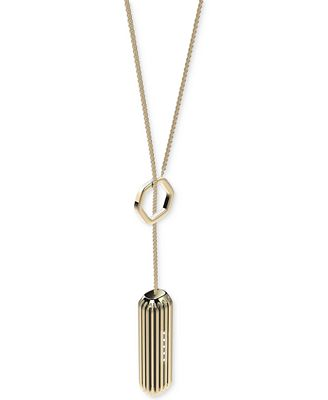 Fitbit Women's Flex 2 Silver-Tone or 22k Gold-Plated Pendant Lariat