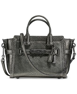 coach diaper bag outlet factory kcr7  COACH Swagger 15 in Pebble Leather