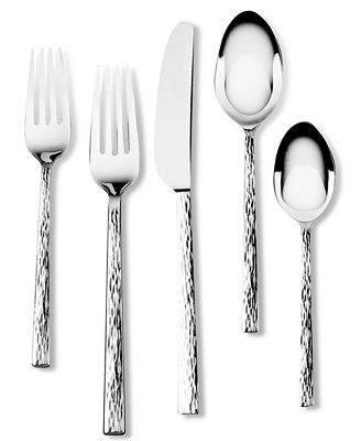 Vera Wang Wedgwood Hammered Stainless Flatware Collection
