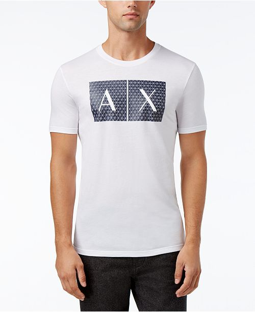 f7a67ecb55f6 A X Armani Exchange Men s Foundation Triangulation T-Shirt - T ...