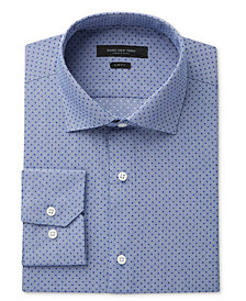 Marc New York Men's Slim-Fit Motion-Ease Collar Wrinkle-Free Dot-Print Dress Shirt