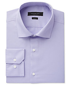 Marc New York Men's Slim-Fit Motion-Ease Collar Wrinkle-Free Solid Dress Shirt