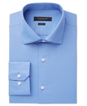 Marc New York  MEN'S SLIM-FIT MOTION-EASE COLLAR WRINKLE-FREE SOLID DRESS SHIRT