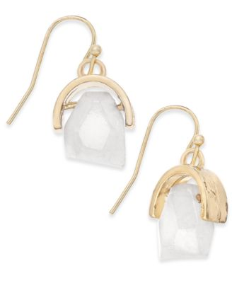 Image of Inspired Life Gold-Tone Stone Drop Earrings