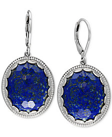 EFFY® Lapis Lazuli Drop Earrings (24-1/2 ct. t.w.) in Sterling Silver