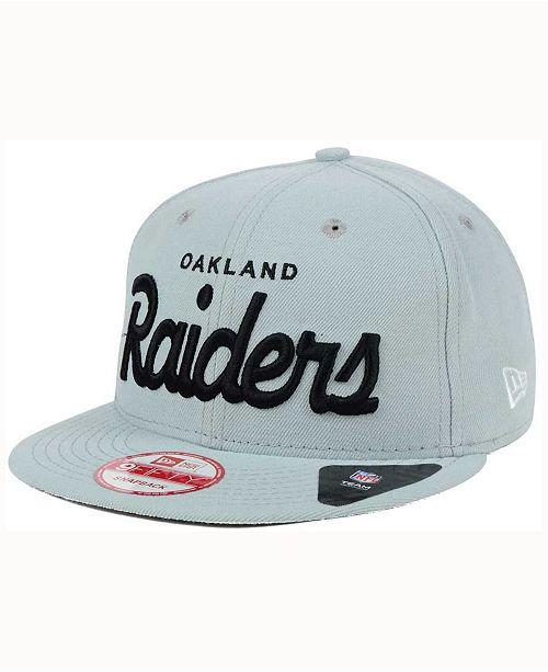 New Era Oakland Raiders LIDS 20th Anniversary Script 9FIFTY Snapback ... b59b25fdc2d