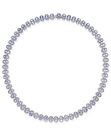 Tanzanite Collar Necklace (25 ct. t.w.) in Sterling Silver, Created for Macy's