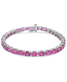 Certified Ruby Tennis Bracelet (17 ct. t.w.) in Sterling Silver, Created for Macy's
